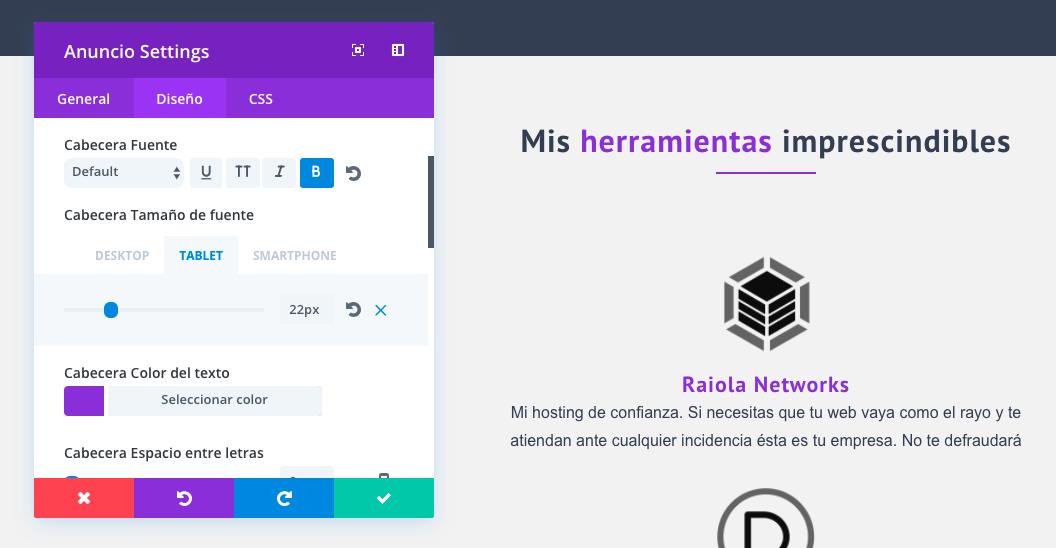 Mega guía en castellano sobre Divi diseño responsive