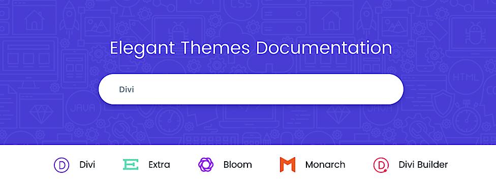 Documentación Elegant Themes Búsqueda
