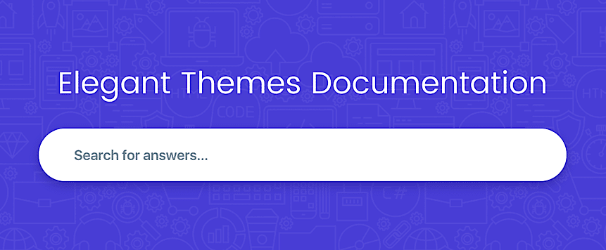 Documentación Elegant Themes