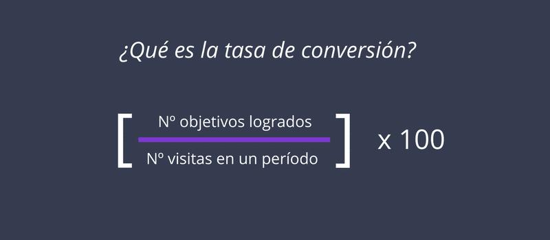 Qué son las conversiones: Tasa de conversión